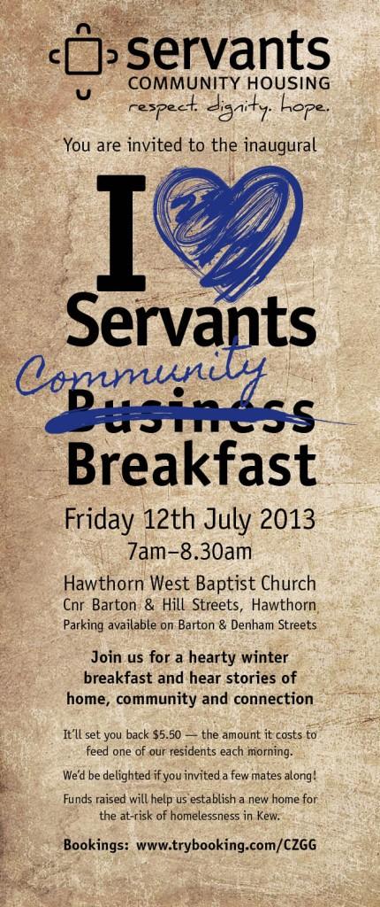 SCH Breakfast Invitation 2013