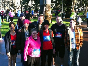 Servants' Operations Manager, Amanda Donohoe, with some of the Carrical House residents who participated in the Run Melbourne event on Sunday 21st July. It was fantastic to see so many residents representing Team Servants on the day!